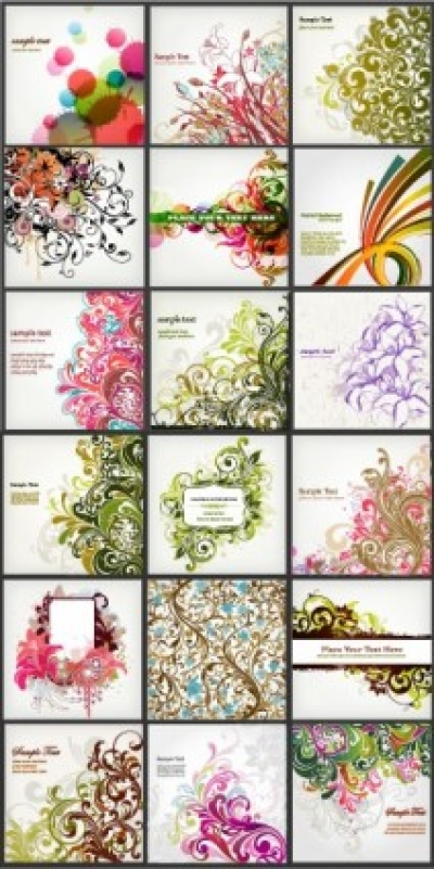 Free vector Vector background  background of a variety of beautiful fashion pattern vector