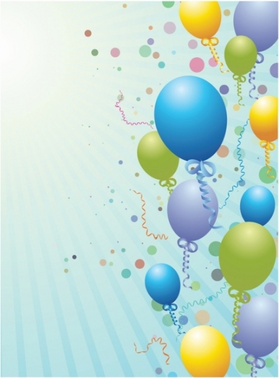 Free vector Vector background  Balloons design background