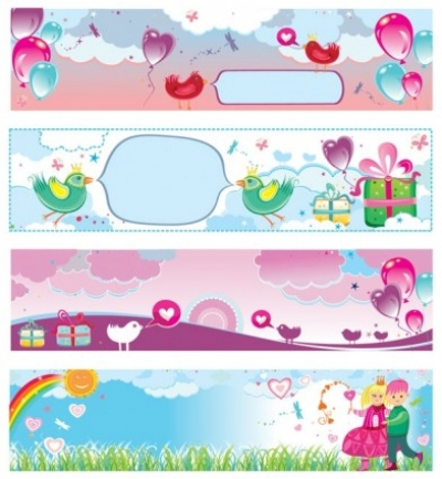 Free vector Vector banner  banner vector cute valentine day