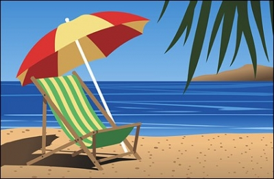 Free vector Vector landscape  Beach chair