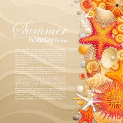 Free vector Vector background  Beach sand and starfishes vector background