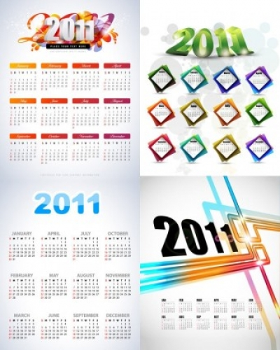 Free vector Vector misc  beautiful 2011 calendar template vector