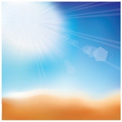 Free vector Vector background  Beautiful background with a summer sea and sand