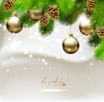 Free vector Vector background  beautiful christmas ball background 03 vector