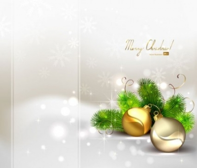 Free vector Vector background  beautiful christmas ball background 04 vector