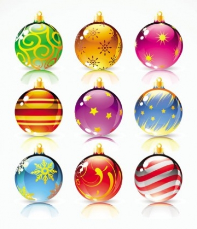 Free vector Vector Christmas  beautiful christmas ball vector
