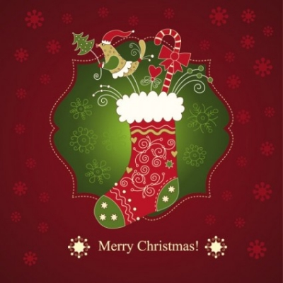 Free vector Vector Christmas  beautiful christmas greeting card 01 vector