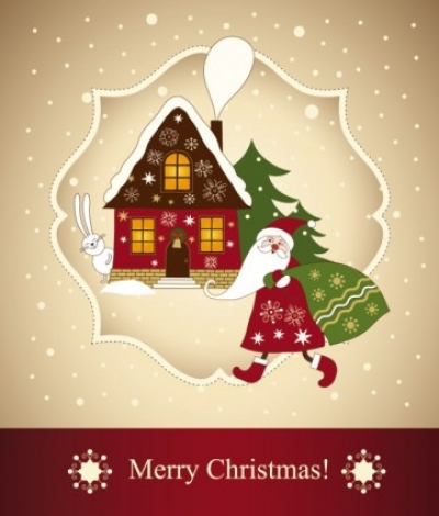 Free vector Vector Christmas  beautiful christmas greeting card 03 vector