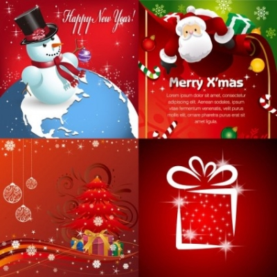 Free vector Vector background  beautiful christmas ornaments and background vector