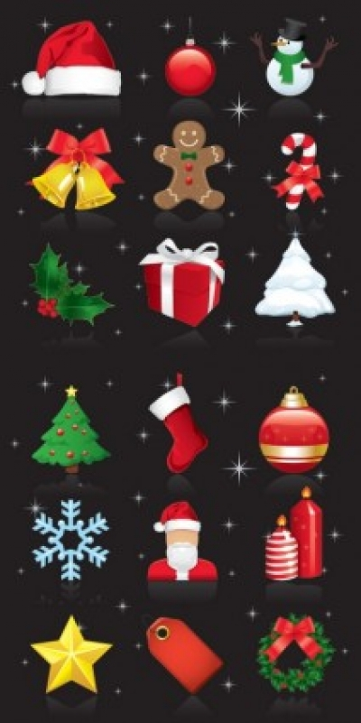 Free vector Vector Christmas  beautiful christmas ornaments vector