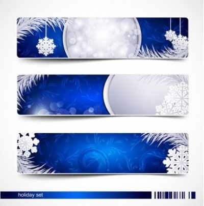 Free vector Vector banner  beautiful christmas snow banner vector