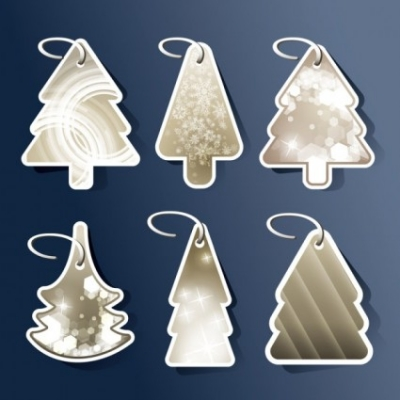 Free vector Vector Christmas  beautiful christmas tree tag 02 vector