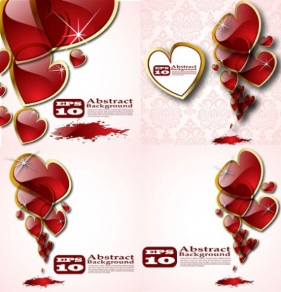Free vector Vector Heart  beautiful crystal heart vector