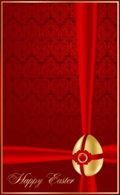 Free vector Vector misc  beautiful easter greeting cards 01 vector