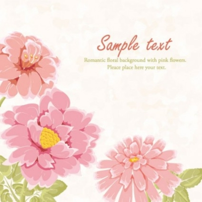 Free vector Vector flower  beautiful flowers background 02 vector