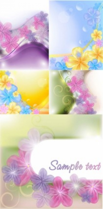 Free vector Vector flower  beautiful flowers background vector