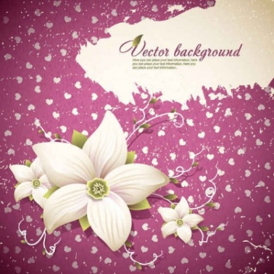 Free vector Vector background  Beautiful flowers shading background