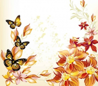 Free vector Vector background  beautiful flowers vector background0001