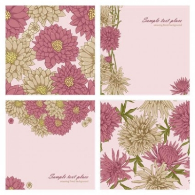 Free vector Vector background  Beautiful flowers vector background