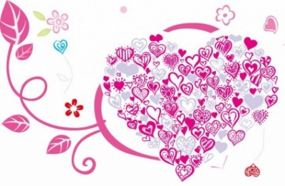 Free vector Vector floral  Beautiful Heart with Floral Ornament