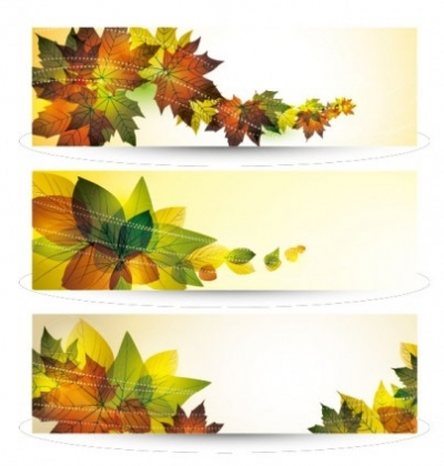 Free vector Vector misc  beautiful leaves card 01 vector