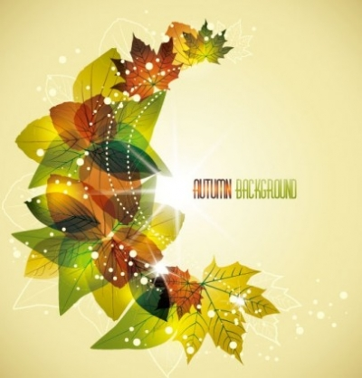 Free vector Vector misc  beautiful leaves card 04 vector
