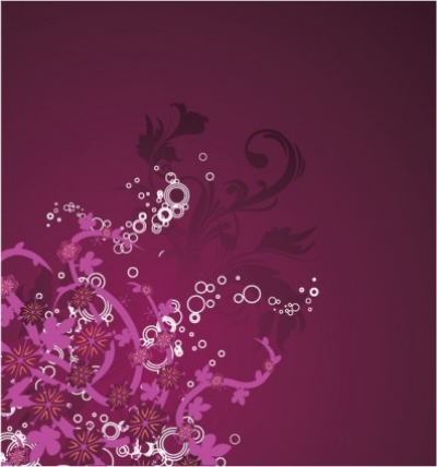 Free vector Vector floral  Beautiful purple floral background