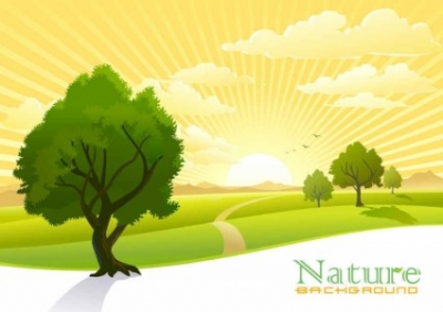Free vector Vector background  Beautiful scenery vector background
