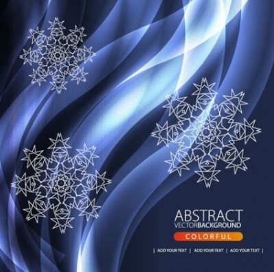Free vector Vector background  beautiful snowflake pattern background 03 vector