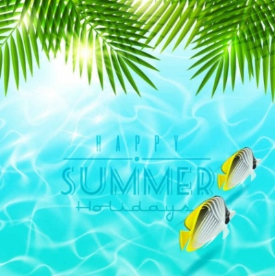 Free vector Vector background  beautiful summer holiday vector background