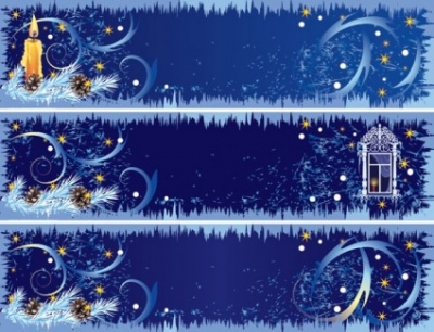 Free vector Vector banner  beautifully decorated christmas banner vector