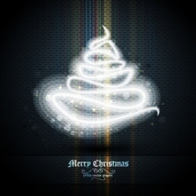Free vector Vector Christmas  beautifully halo christmas tree 02 vector