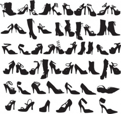 Free vector Vector Silhouettes  Beauty Fashion Shoes Silhouettes Vector Graphic