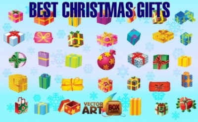 Free vector Vector Christmas  Best Christmas Gifts