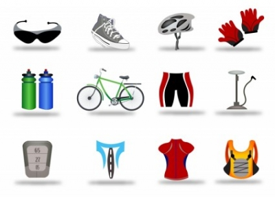 Free vector Vector icon  Bicycle Icon Set