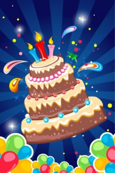 Free vector Vector background  Birthday card background