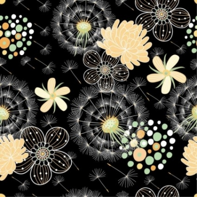 Free vector Vector background  black background floral 04 vector