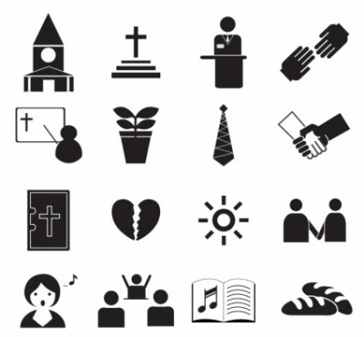 Free vector Vector icon  Black Worship Icons
