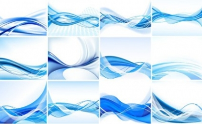 Free vector Vector abstract  Blue Abstract Vector Background Set