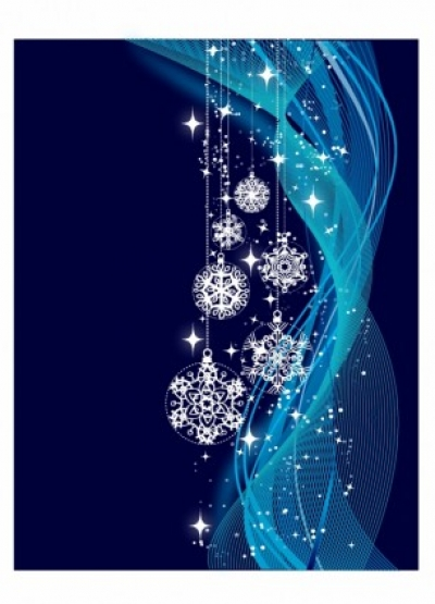 Free vector Vector misc  Blue Christmas background