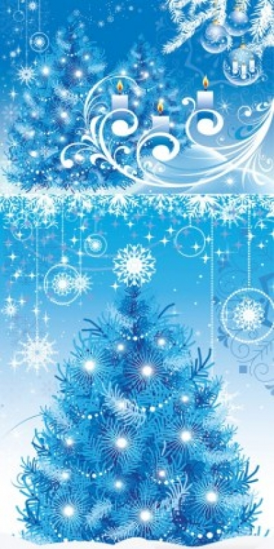 Free vector Vector background  blue christmas background vector