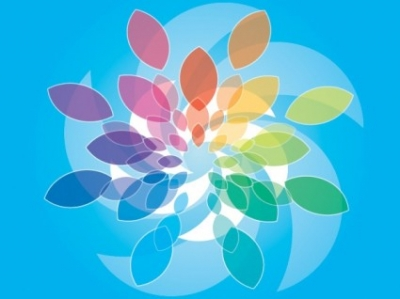 Free vector Vector flower  Blue Colored Background Vector Design