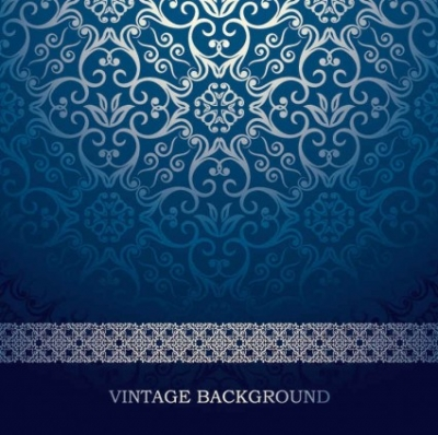 Free vector Vector background  blue European pattern vector background