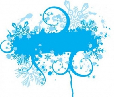 Free vector Vector floral  Blue Floral Vector Graphic