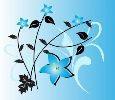 Free vector Vector flower  Blue Flowers