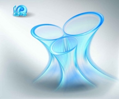 Free vector Vector background  blue halo effects vector background