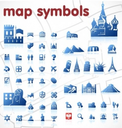 Free vector Vector misc  blue map symbol vector