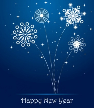 Free vector Vector misc  Blue new year greeting card