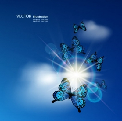 Free vector Vector background  blue sky background 02 vector