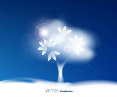 Free vector Vector background  Blue sky background vector